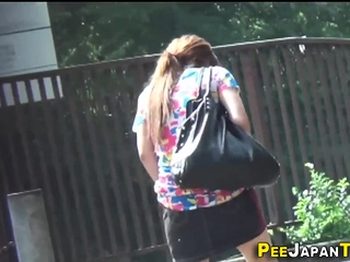 Asian teen pen up pees