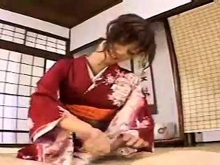 Subtitled Japanese milf masseuse taught handjob massage
