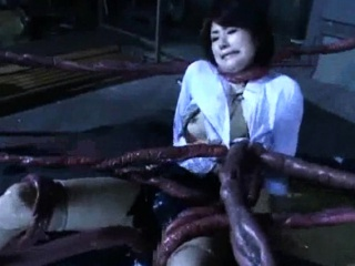 Alien Tentacles Cum All Over Her!