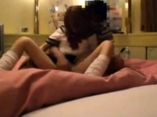Japanese Sailor sexual intercourse around love hotel