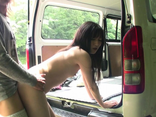 Full-bodied JAV pale bungler blowjob and raw sex outside