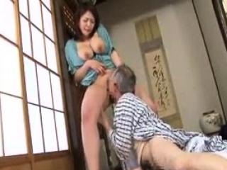 Tiny domineer Japanese wife titjob