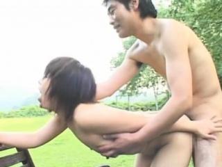 Beguiling japanese lounge lizard Ageha Aoi caresses fat boner