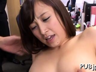 Playsome oriental Ayumi Kimino rides lend substance