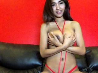 Broad in the beam Tits Thai hottie strips red bikini