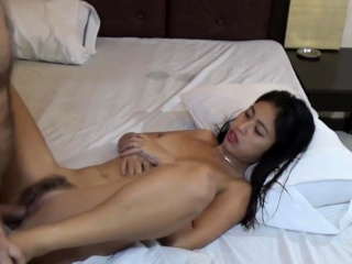 Horny Asian Teen sucks tourist's Cock