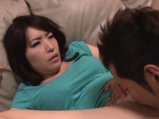 Sympathetic older japanese babe gives a steaming blowjob