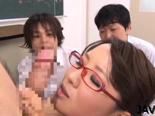 Sinful scenes of lusty cleft stimulation by a hawt trainer