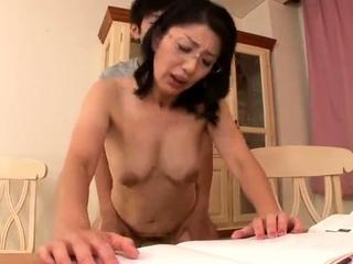 Mature Japanese Rina Tachikawa exposing puristic cunt