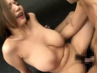 Lovely Asian with unchanging nipples blowjob