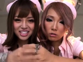 Beguiling nipponese maid Mao Miyabi caressed tenderly