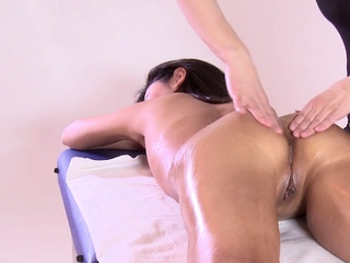 First time massage masking be expeditious for hot virgin Asian