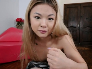 Petite asian stepsis is fingered apart from stepbro plus deepthroats