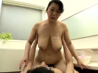 Busty Japanese girl with prudish cunt