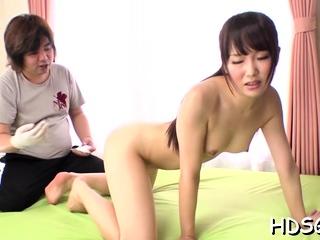 Captivating girl Ai Mizushima caresses beamy tool