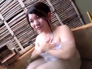 Japanese mature taking shower